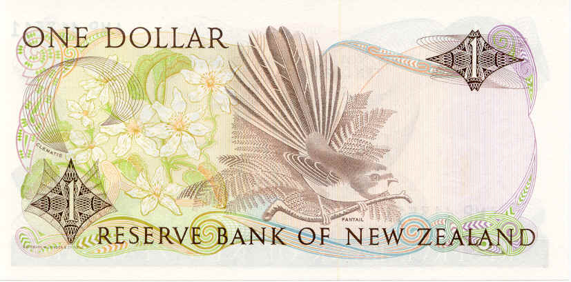 NZ$1 Collared Grey Fantail