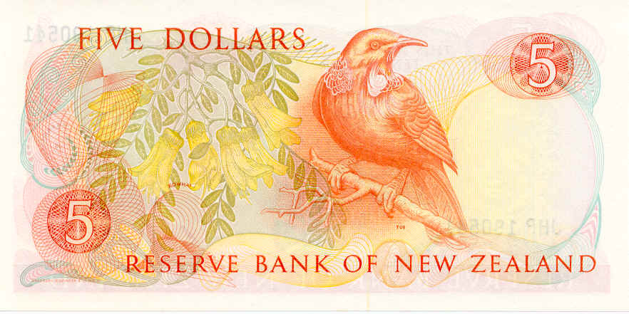 NZ$5 Tui