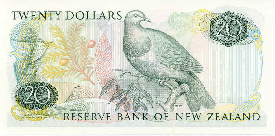 NZ$20 New Zealand Pigeon