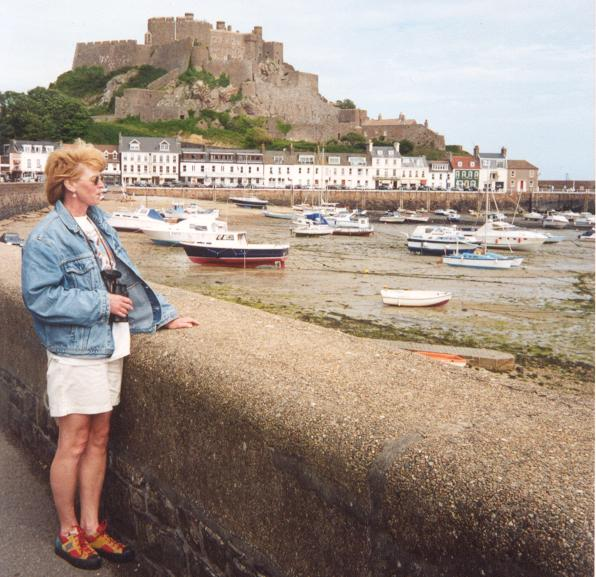 Marga & Mont Orgueil Castle in the background
