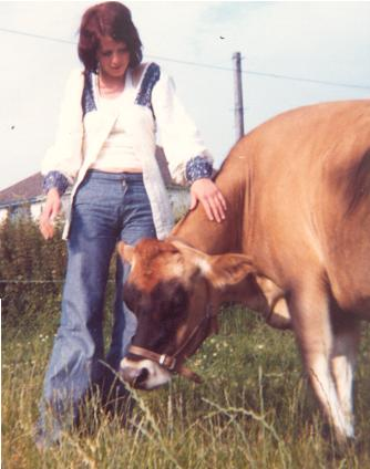 Marga with a Jersey Cow 1973